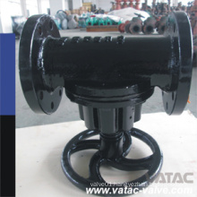 Cast Iron Body Rubber Lining Through Type Diaphragm Valve